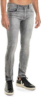 Calça Jeans Masculina Modelagem Slim Com Bolsos - Denim