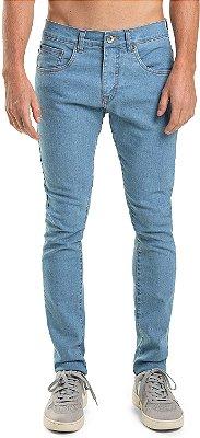 Calça Jeans Masculina Básica Com Bolsos Modelagem Slim - Denim