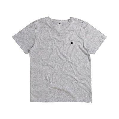 Camiseta básica masculina de gola redonda - Mescla