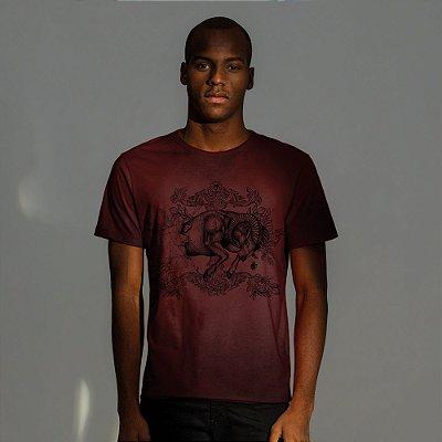 Camiseta masculina estampa do signo de Áries - Vermelho