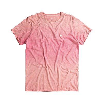 Camiseta masculina degradê modelagem padrão - Rosa