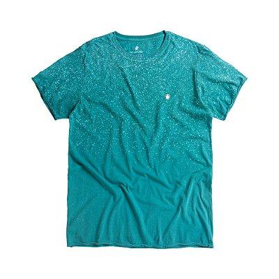 Camiseta masculina degradê modelagem padrão - Azul
