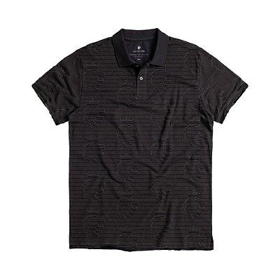 Camisa polo masculina estampa padronagem leão Vøn der Völke - Preto