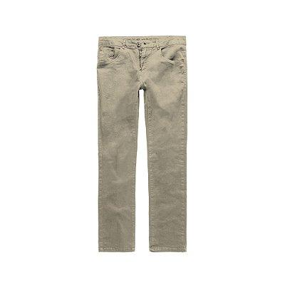 Calça masculina de sarja modelagem slim - Bege