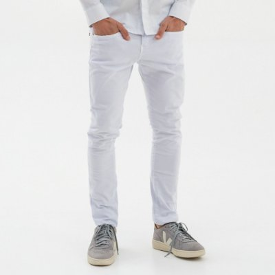 Calça masculina de sarja modelagem slim - Branco