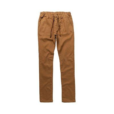 Calça ecológica slim masculina com elástico - Marrom