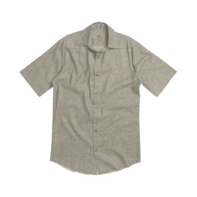 Camisa masculina ecológica de manga curta - Bege