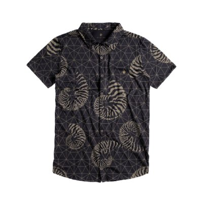 Camisa masculina de malha estampa geométrica náutica - Preto