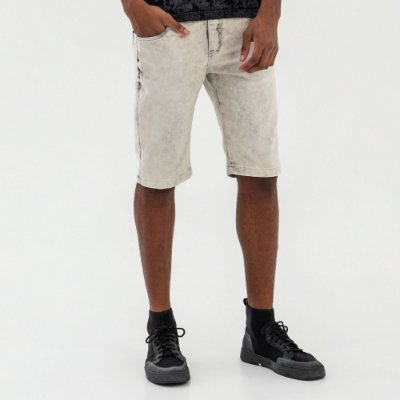 Bermuda jeans masculina modelagem slim - Denim