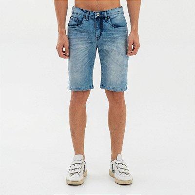 Bermuda jeans masculina modelagem reta - Denim