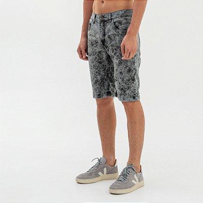 Bermuda jeans masculina modelagem tradicional - Denim