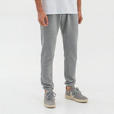 Calça básica de moletom masculina com bolsos - Mescla