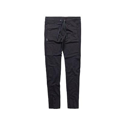 Calça de moletom masculina cintura com amarração - Preto