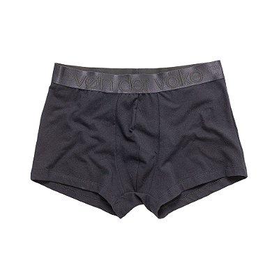 Kit 2 cuecas boxer com elástico largo personalizado - Preto e Branco