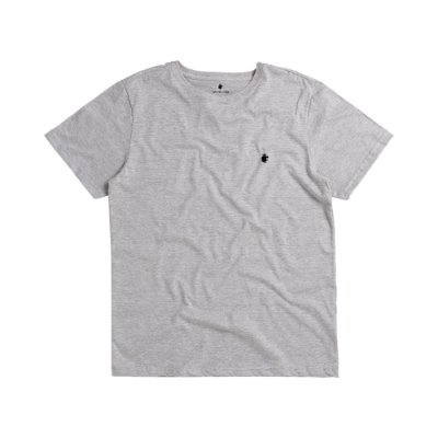 Camiseta básica masculina de gola redonda - Cinza Mescla