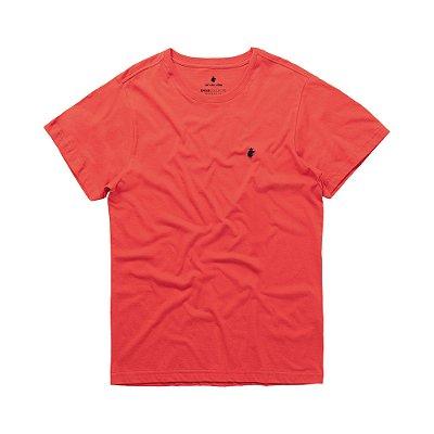 Camiseta básica masculina de gola redonda - Vermelho