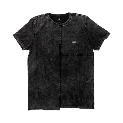 Camiseta masculina de manga curta e gola redonda estampa IAmsterdam - Preto
