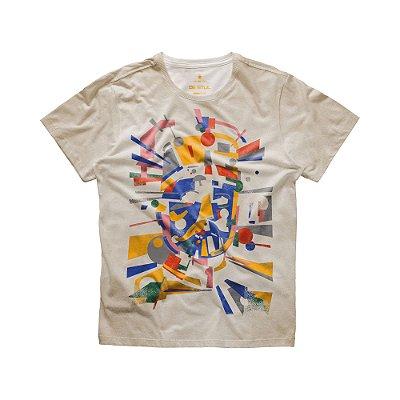 Camiseta masculina manga curta estampa Mr. Volke De Stjil - Bege
