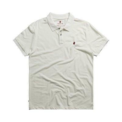 Camisa polo masculina básica em piquet - Bege