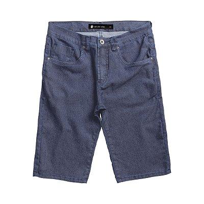 Bermuda jeans masculina slim lavação média com bolsos - Denim