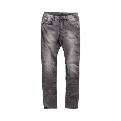 Calça jeans masculina slim escura efeito desbotado - Denim