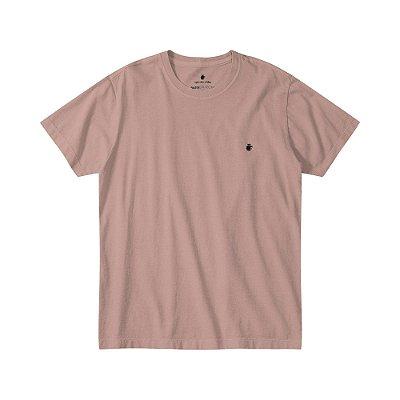 Camiseta Básica Masculina Estonada - Rosa