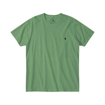 Camiseta básica masculina estonada gola redonda e manga curta - Verde