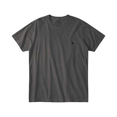 Camiseta básica masculina estonada gola redonda e manga curta - Preto