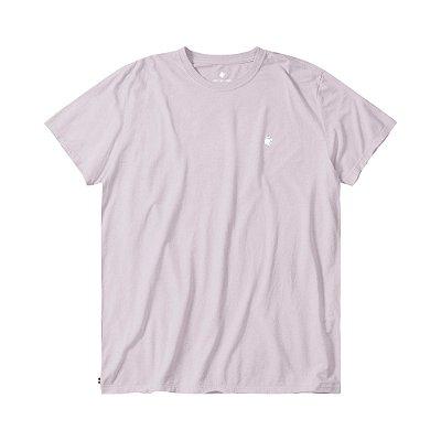 Camiseta básica masculina efeito devorê gola redonda e manga curta - Rosa