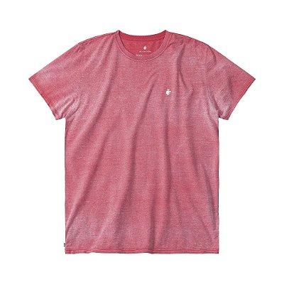 Camiseta básica masculina efeito devorê gola redonda e manga curta - Vermelho