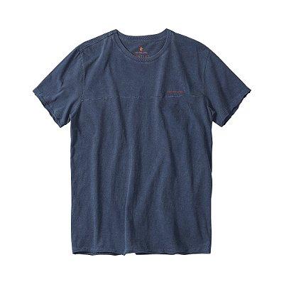 Camiseta masculina em flamê com recortes diferenciados - Azul