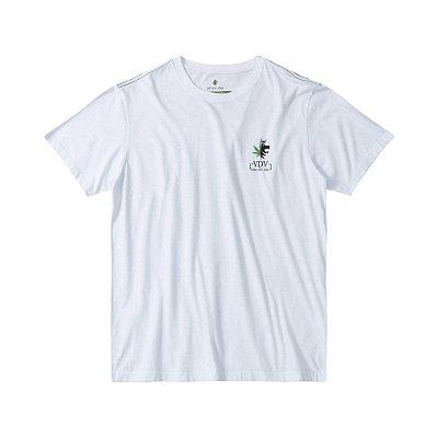 Camiseta masculina estampa do homem cannabis - Branco
