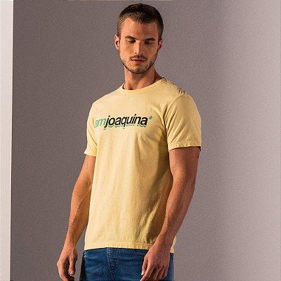 Camiseta masculina estampa lettering I Am Joaquina - Amarelo
