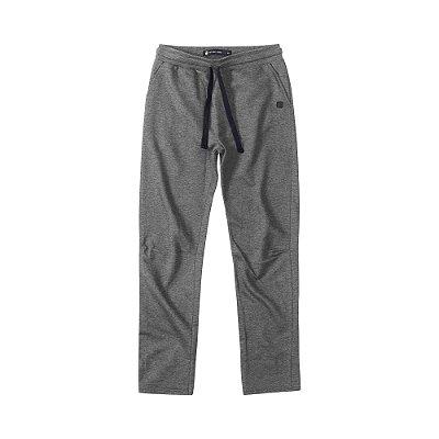Calça moletom masculina básica com elástico e bolso frontal - Cinza