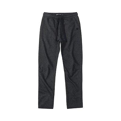 Calça moletom masculina básica com elástico e bolso frontal - Preto