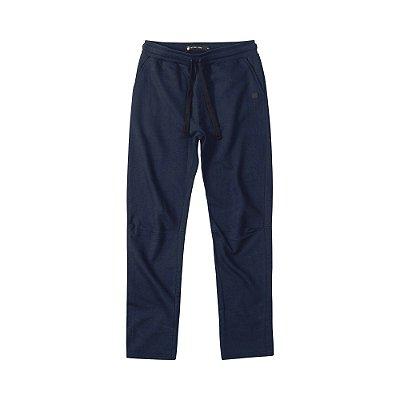 Calça moletom masculina básica com elástico e bolso frontal - Azul