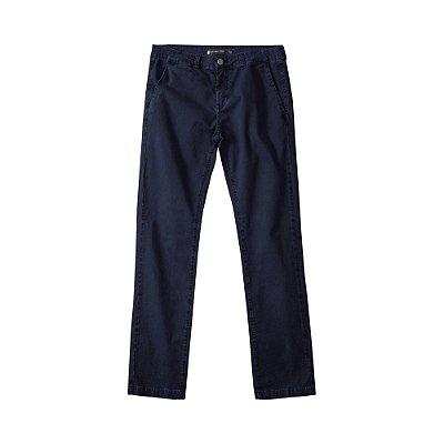 Calça chino básica masculina de sarja modelagem slim - Azul