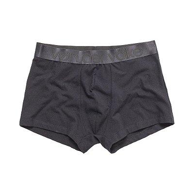 Kit 2 cuecas boxer com elástico largo personalizado - Branco/Preto