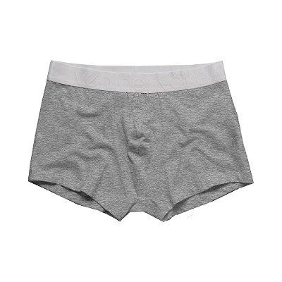Kit 2 cuecas boxer com elástico largo personalizado - Preto/Mescla