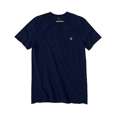 Camiseta Masculina em Crepe Leão Vøn der Völke - Azul