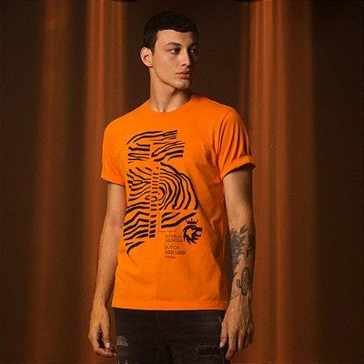 Camiseta Masculina Manga Curta Gráficos Indonésia Indie Lands - laranja