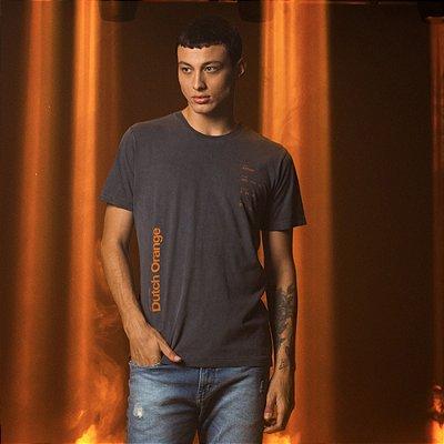 Camiseta Masculina Manga Curta estampa Dutch Orangem - Marinho