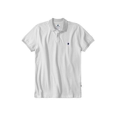 Camisa Polo Masculina Básica Von der Volke em Piquet - Branco