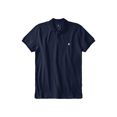 Camisa Polo Masculina Básica Von der Volke em Piquet - Marinho
