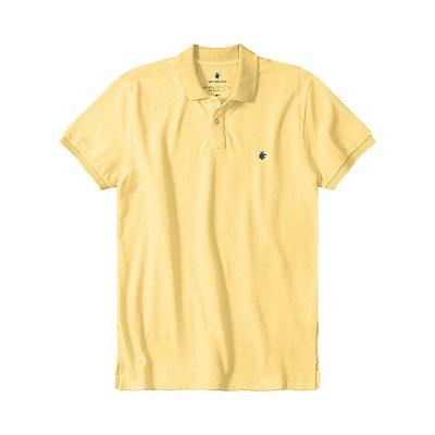 Camisa Polo Masculina Básica Von der Volke em Piquet - Amarelo