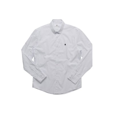 Camisa Masculina Manga Longa em Algodão Basis - Branco
