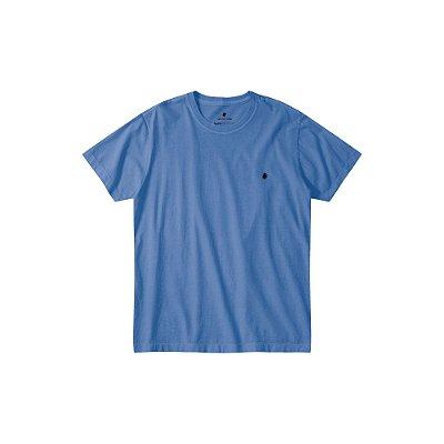 Camiseta básica masculina estonada gola redonda e manga curta - Azul