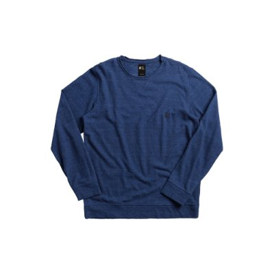 Camiseta Masculina Manga Longa de Malha Ecológica Von der Volke - Azul