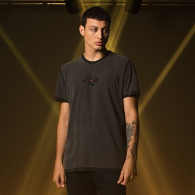Camiseta Masculina manga curta masculina Estonada Volke - Preto