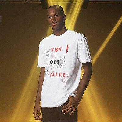 Camiseta Masculina Oversized Von der Volke Fragmentos - Branco